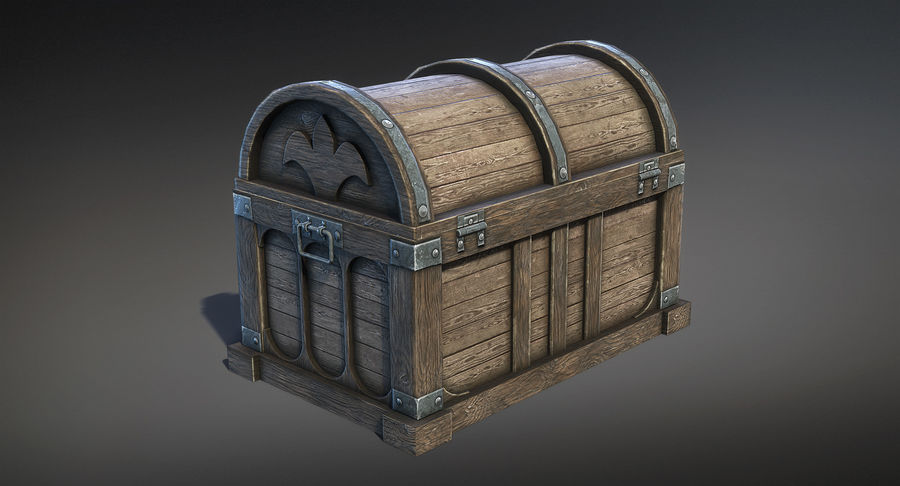 Chest Box Big royalty-free 3d model - Preview no. 4