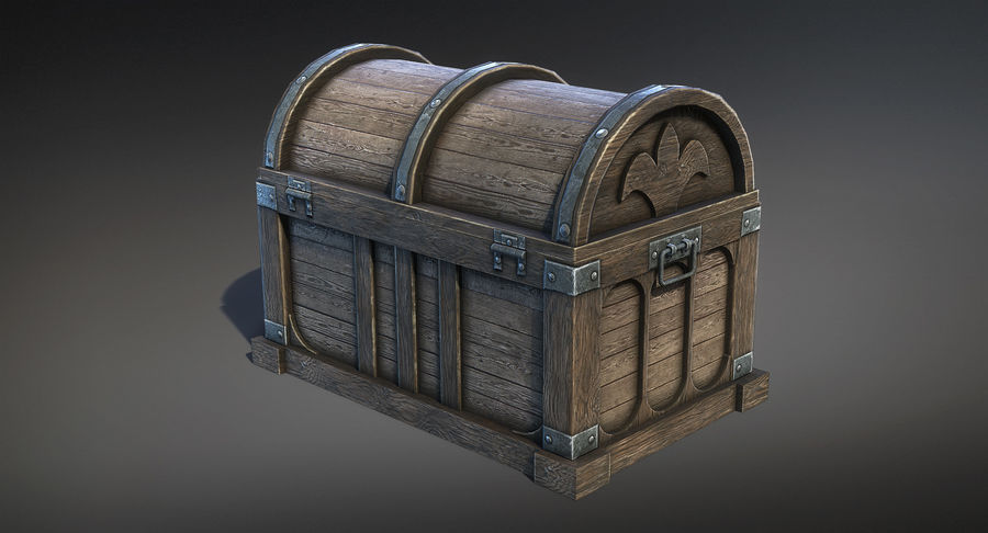 Chest Box Big royalty-free 3d model - Preview no. 5
