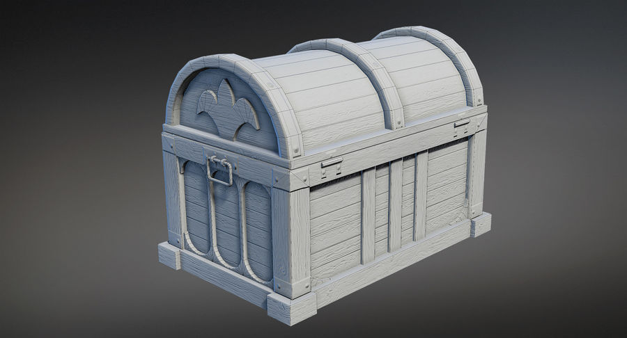 Chest Box Big royalty-free 3d model - Preview no. 8