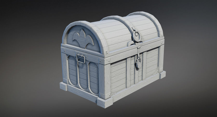 Chest Box Big royalty-free 3d model - Preview no. 7