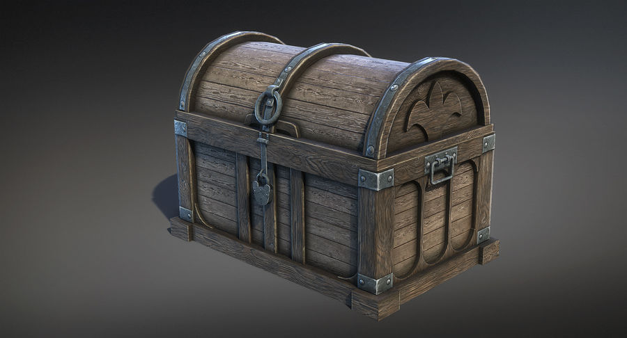 Chest Box Big royalty-free 3d model - Preview no. 3