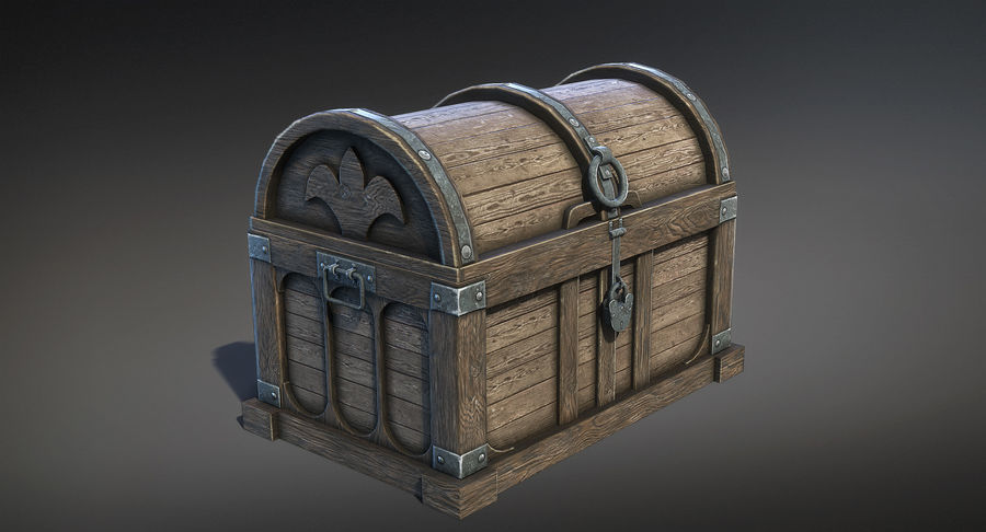 Chest Box Big royalty-free 3d model - Preview no. 2