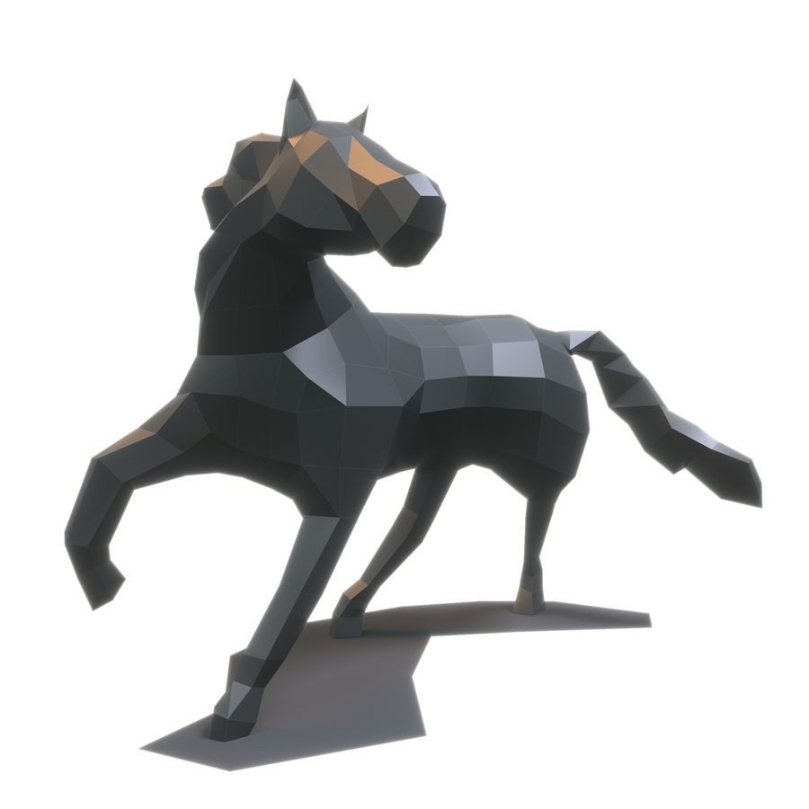 Cavallo Papercraft royalty-free 3d model - Preview no. 1