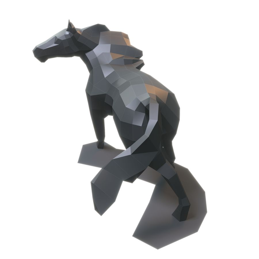 Cavallo Papercraft royalty-free 3d model - Preview no. 5