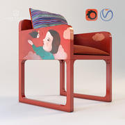 Chair upholstery Luisa Peixoto and Evelina Oliveira 3d model