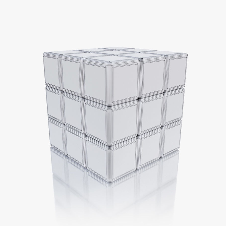 Rubiks kubus royalty-free 3d model - Preview no. 7
