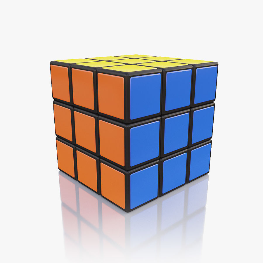 Rubiks kubus royalty-free 3d model - Preview no. 6