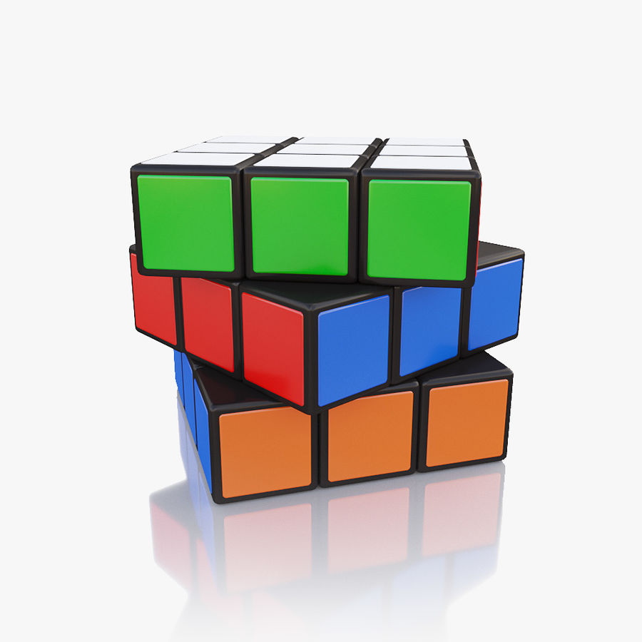 Rubiks kubus royalty-free 3d model - Preview no. 1