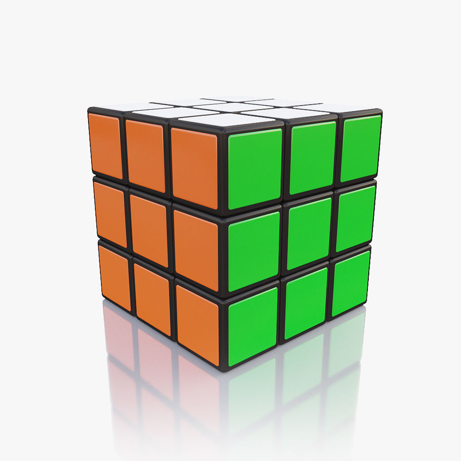 Rubiks kubus royalty-free 3d model - Preview no. 4