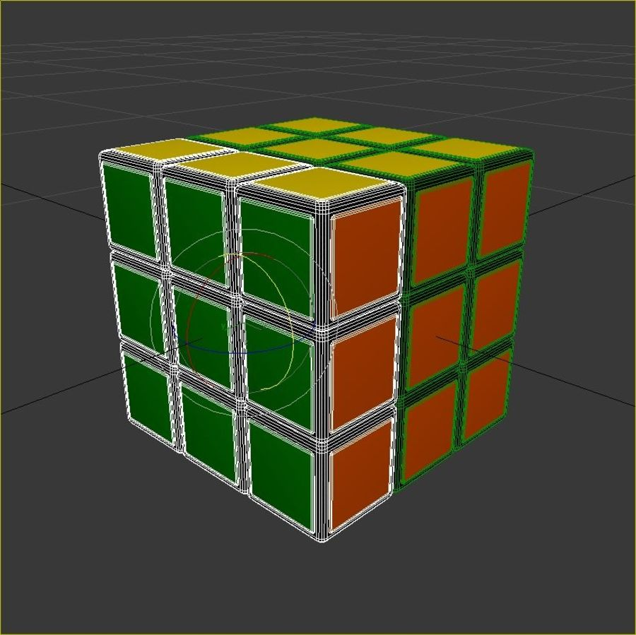Rubiks kubus royalty-free 3d model - Preview no. 9