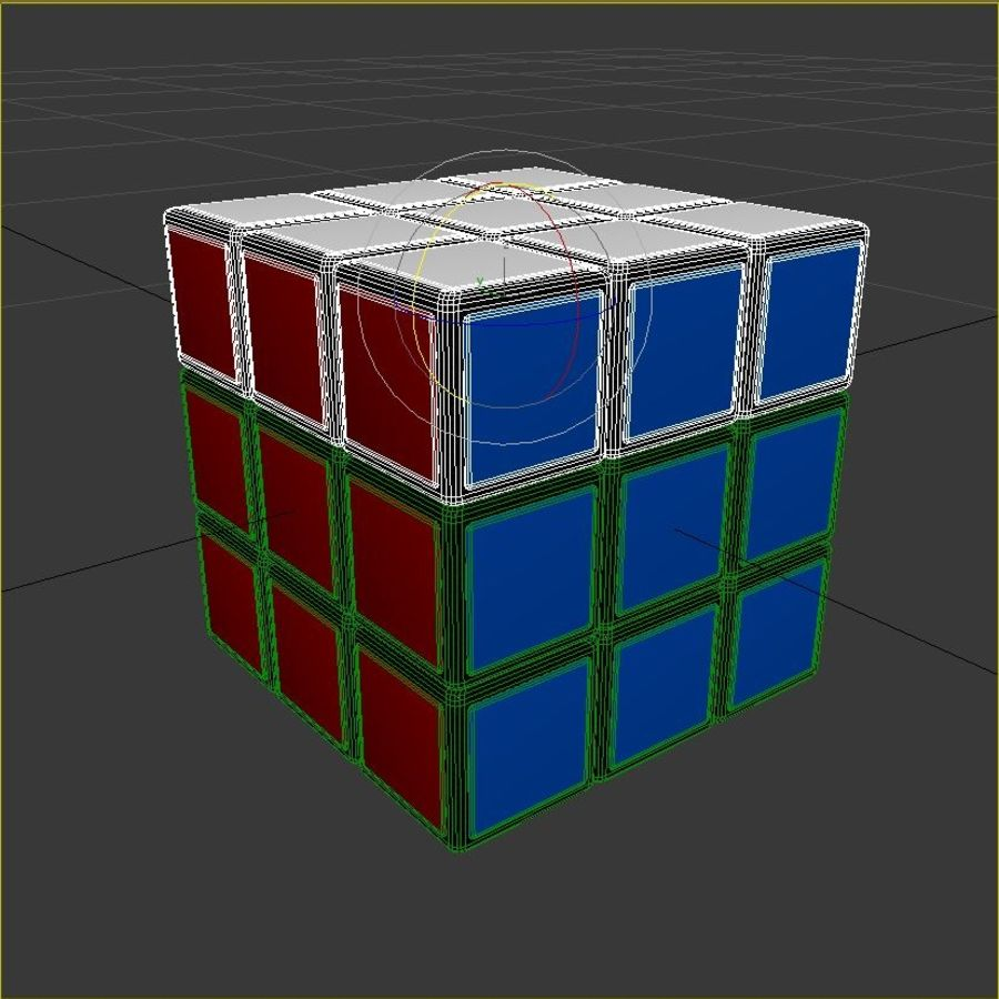 Rubiks kubus royalty-free 3d model - Preview no. 8