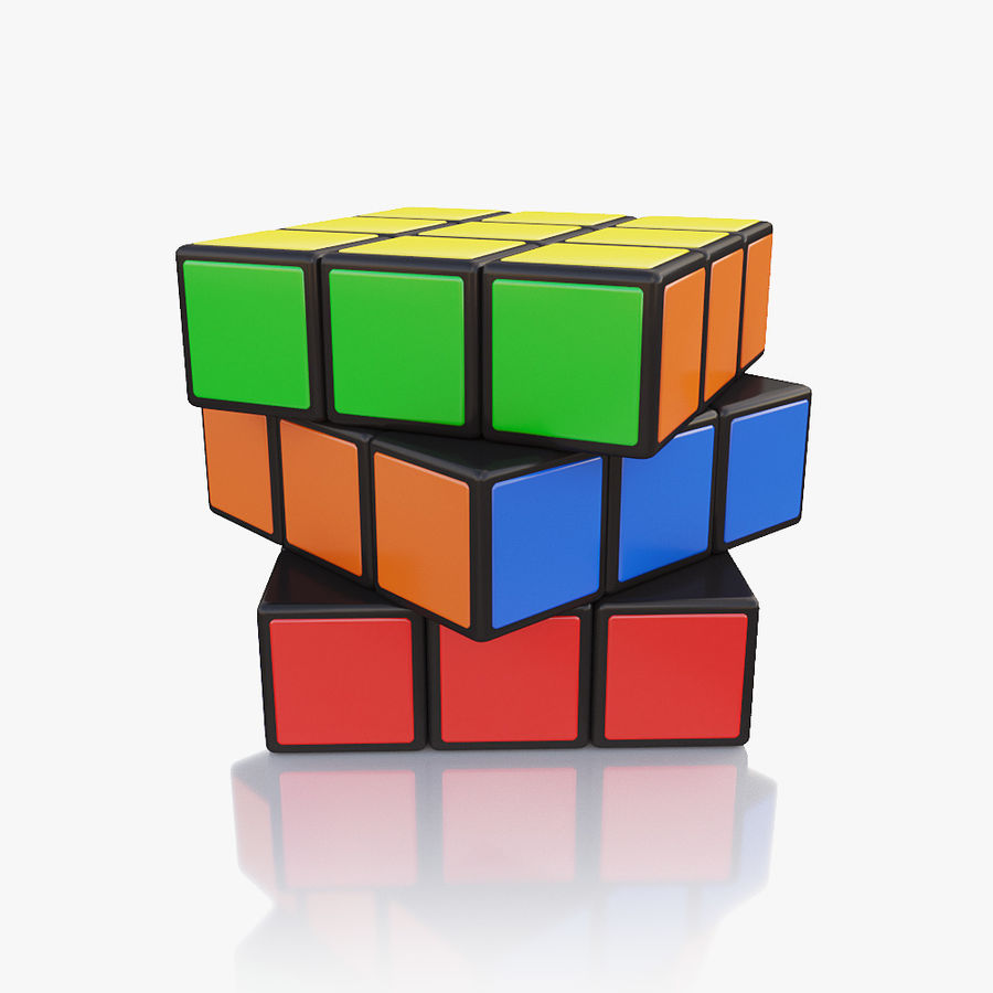 Rubiks kubus royalty-free 3d model - Preview no. 2