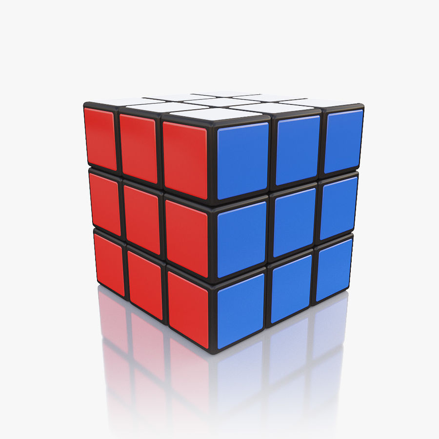 Rubiks kubus royalty-free 3d model - Preview no. 3