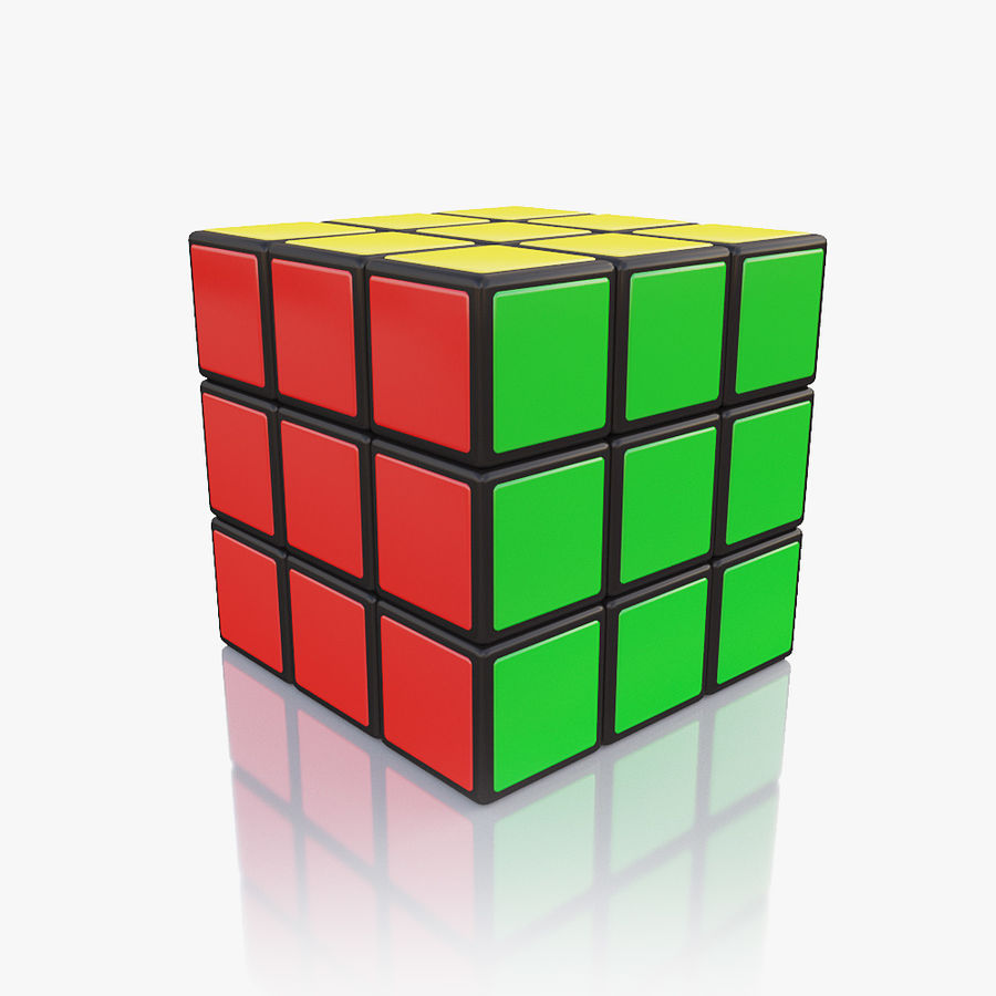 Rubiks kubus royalty-free 3d model - Preview no. 5