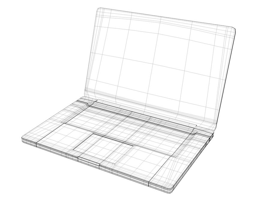 MacBook royalty-free 3d model - Preview no. 7