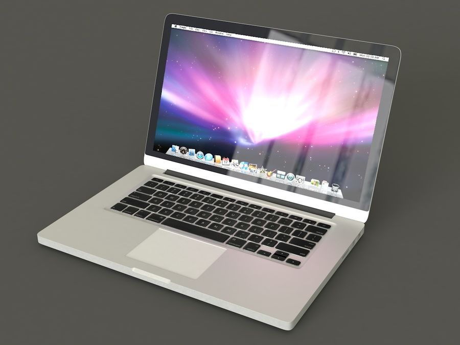 MacBook royalty-free 3d model - Preview no. 1