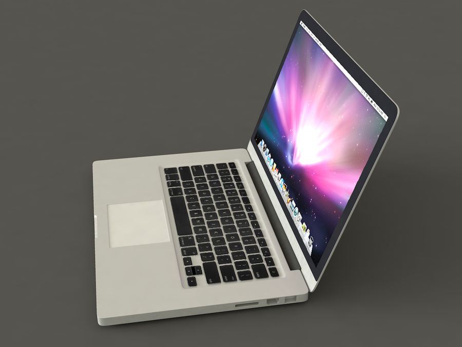 MacBook royalty-free 3d model - Preview no. 2