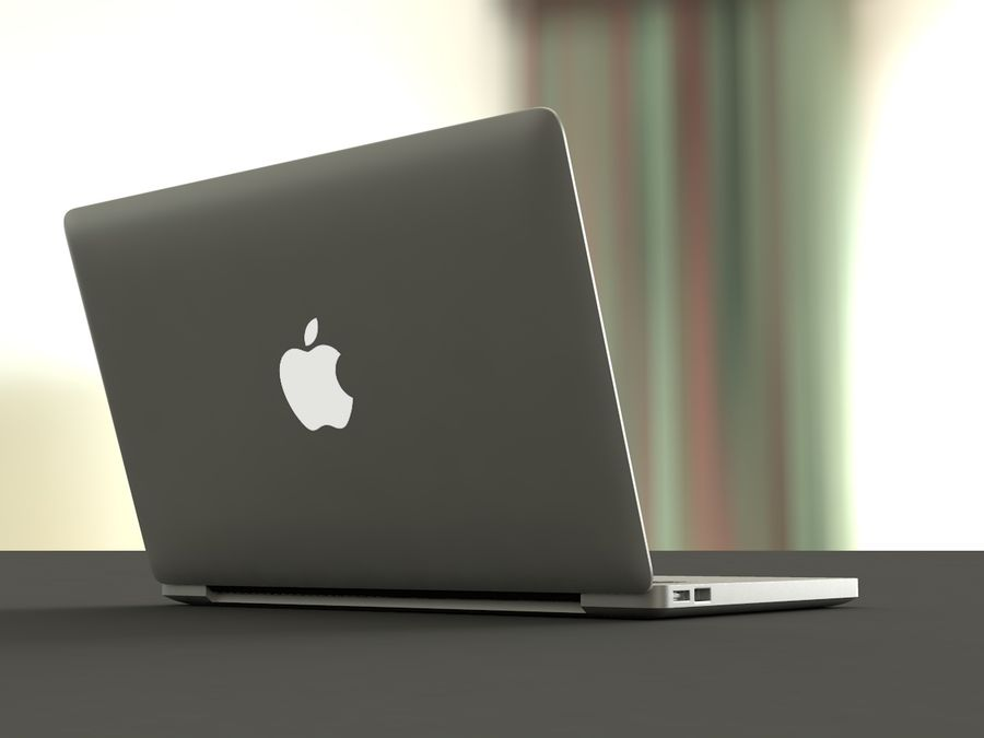 MacBook royalty-free 3d model - Preview no. 4