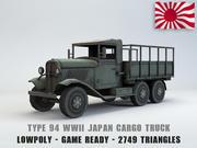Typ 94 Army Truck niedrige Poly 3d model