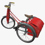 Vintage Tricycle 1940 3d model