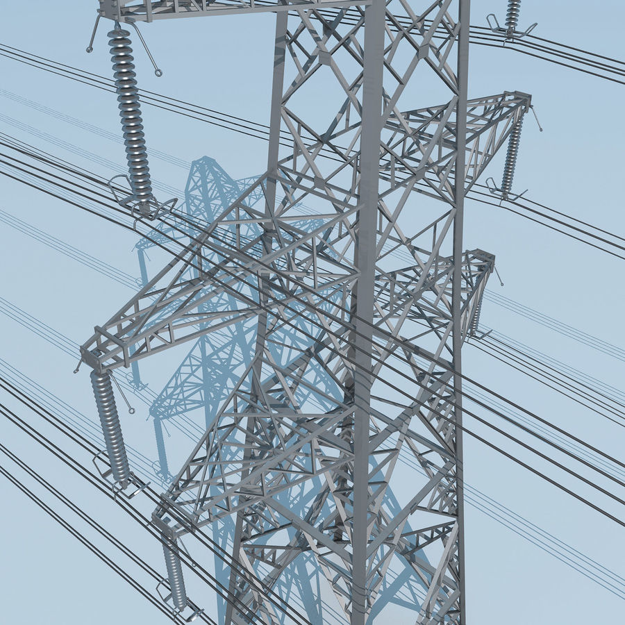 Transmission Tower royalty-free 3d model - Preview no. 7
