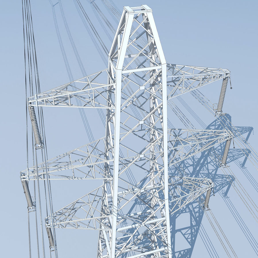 Transmission Tower royalty-free 3d model - Preview no. 4