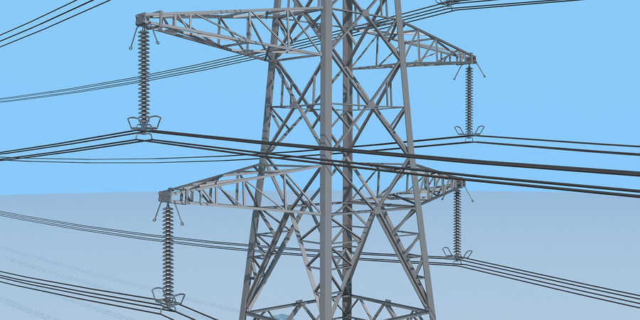 Transmission Tower royalty-free 3d model - Preview no. 8