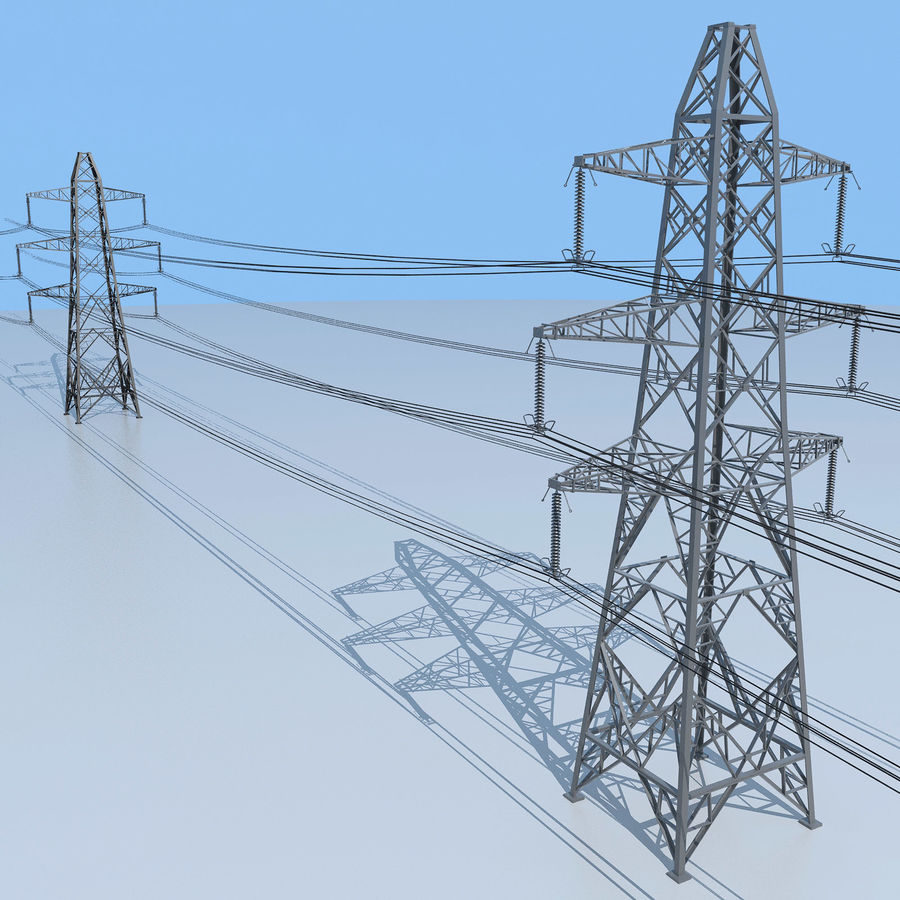 Transmission Tower royalty-free 3d model - Preview no. 2