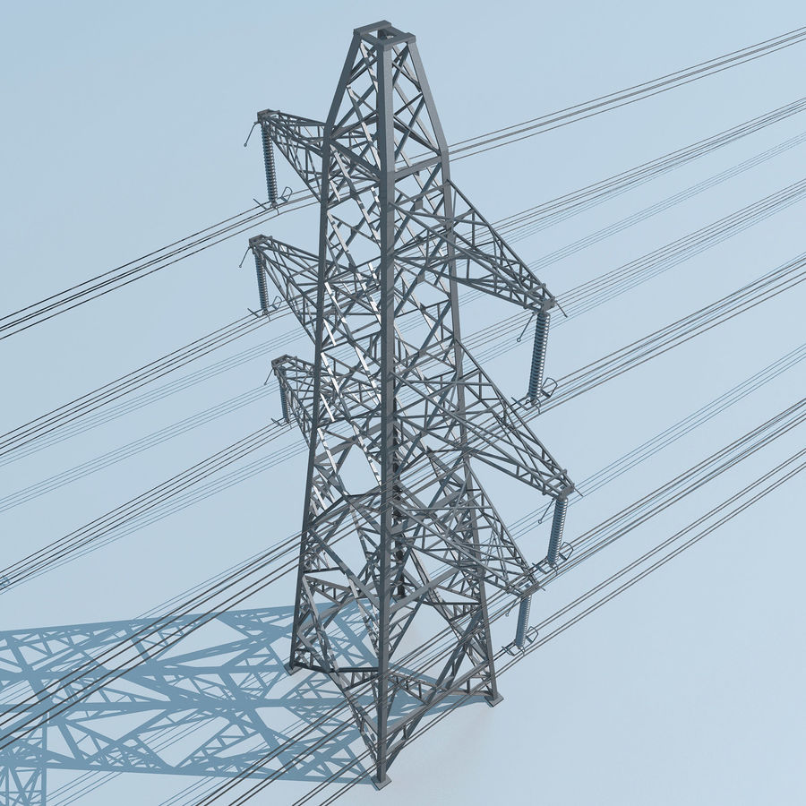 Transmission Tower royalty-free 3d model - Preview no. 10