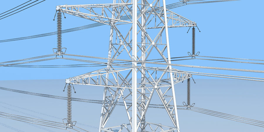 Transmission Tower royalty-free 3d model - Preview no. 9