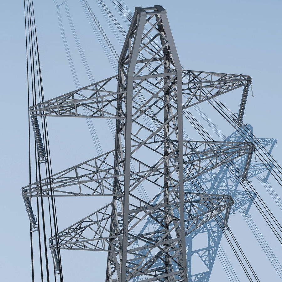 Transmission Tower royalty-free 3d model - Preview no. 3