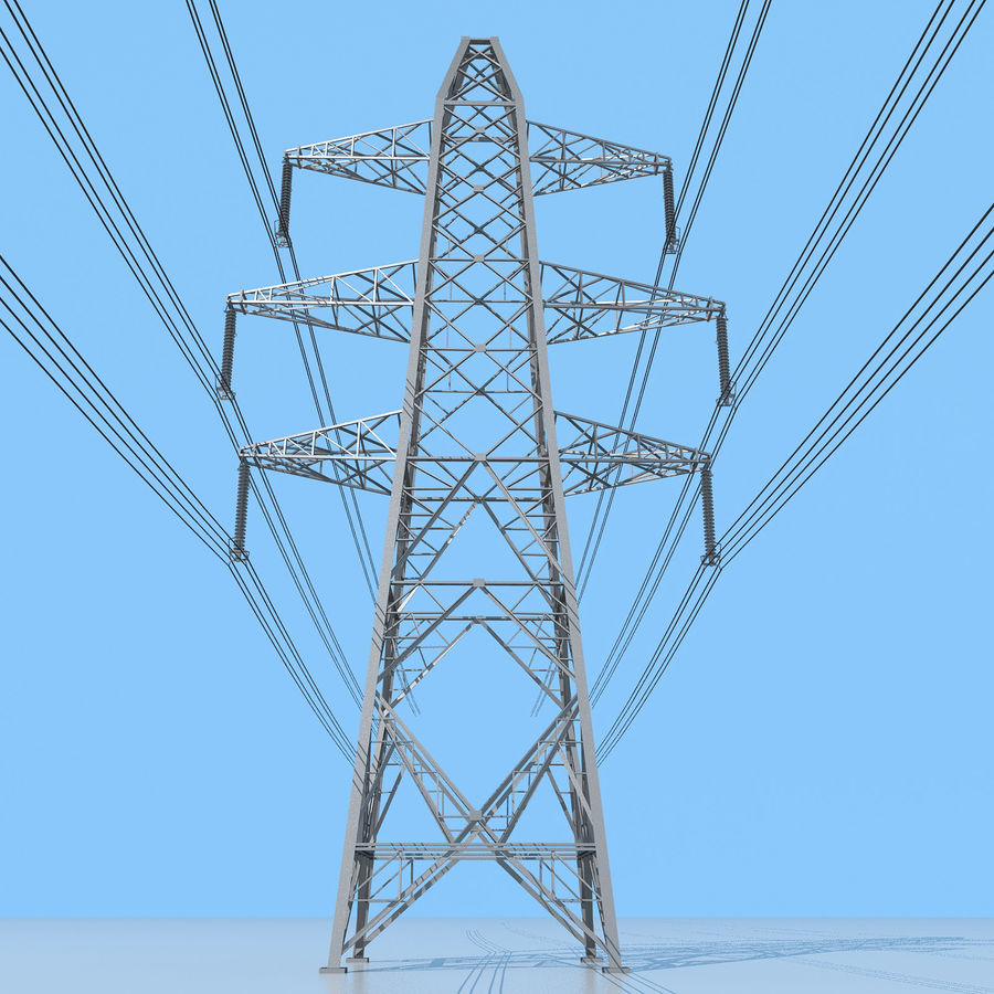 Transmission Tower royalty-free 3d model - Preview no. 6
