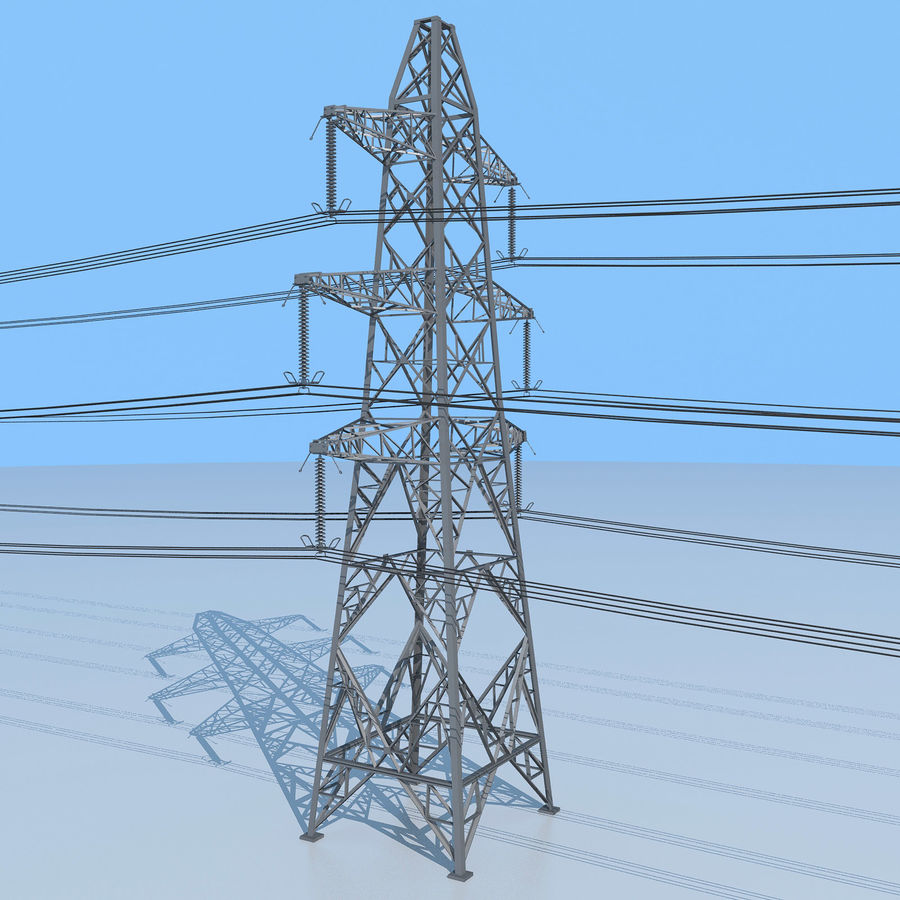 Transmission Tower royalty-free 3d model - Preview no. 5