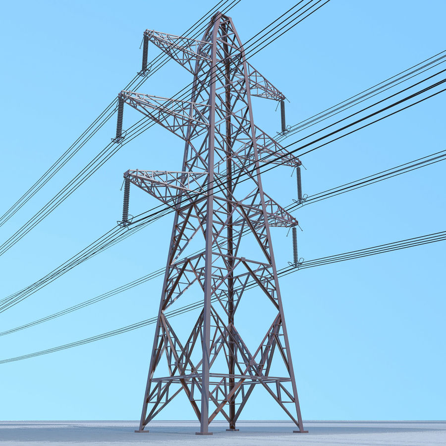 Transmission Tower royalty-free 3d model - Preview no. 1