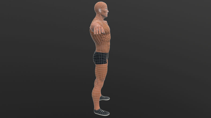 athlète royalty-free 3d model - Preview no. 19
