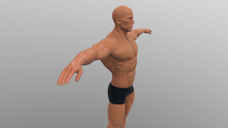 athlète royalty-free 3d model - Preview no. 8