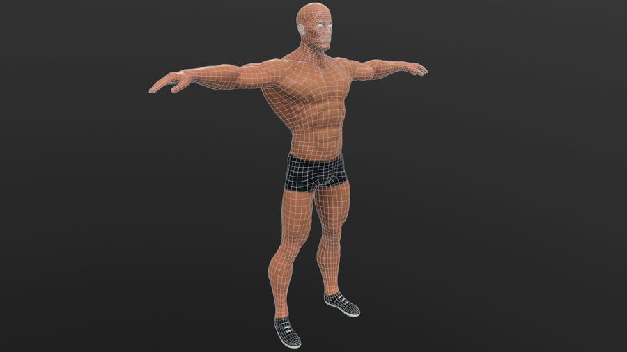 athlète royalty-free 3d model - Preview no. 18