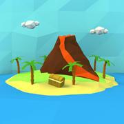Çizgi film hazine adası 3d model