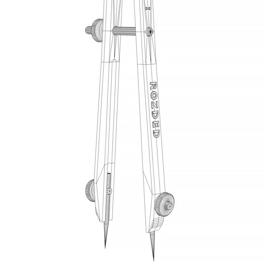 Opstellen kompas royalty-free 3d model - Preview no. 4