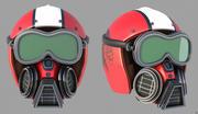 Vlucht helm 3d model