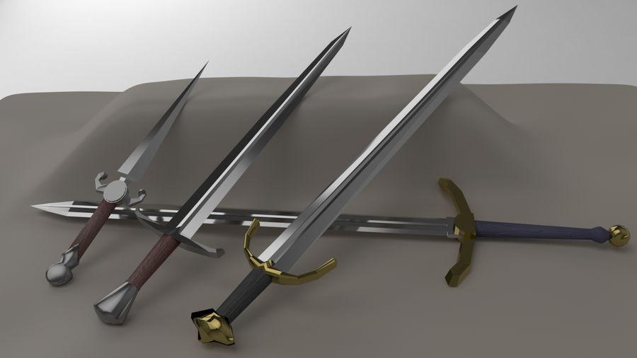 Paquete de armas de rol medieval royalty-free modelo 3d - Preview no. 2