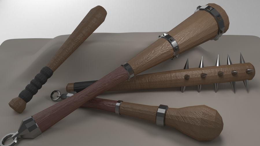 Paquete de armas de rol medieval royalty-free modelo 3d - Preview no. 5
