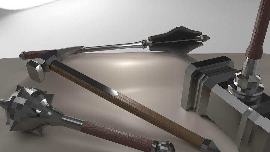 Paquete de armas de rol medieval royalty-free modelo 3d - Preview no. 7