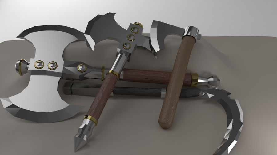 Paquete de armas de rol medieval royalty-free modelo 3d - Preview no. 4