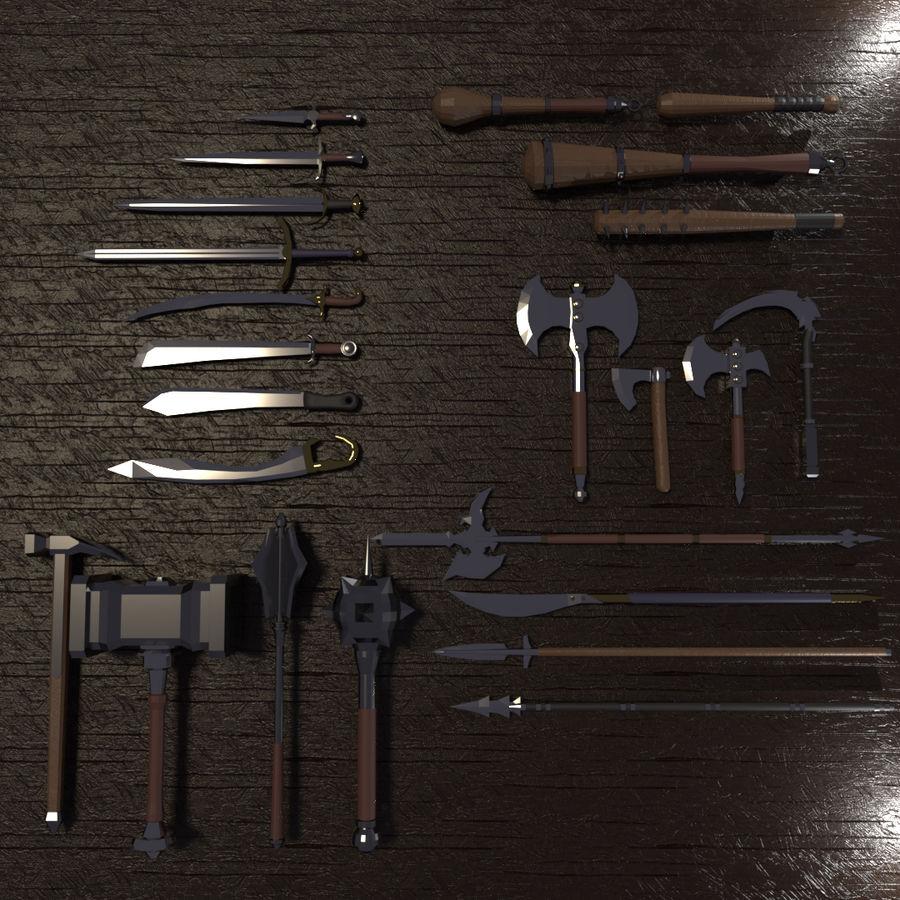Paquete de armas de rol medieval royalty-free modelo 3d - Preview no. 1