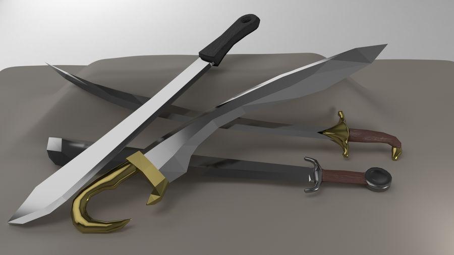 Paquete de armas de rol medieval royalty-free modelo 3d - Preview no. 3