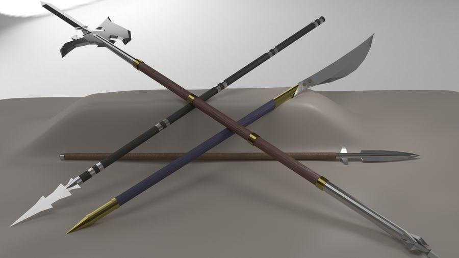 Paquete de armas de rol medieval royalty-free modelo 3d - Preview no. 6