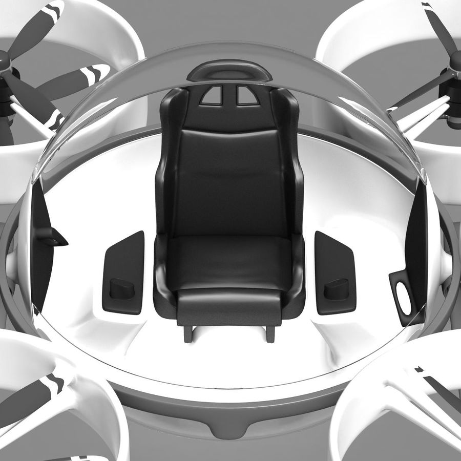 Personal Drone royalty-free 3d model - Preview no. 7