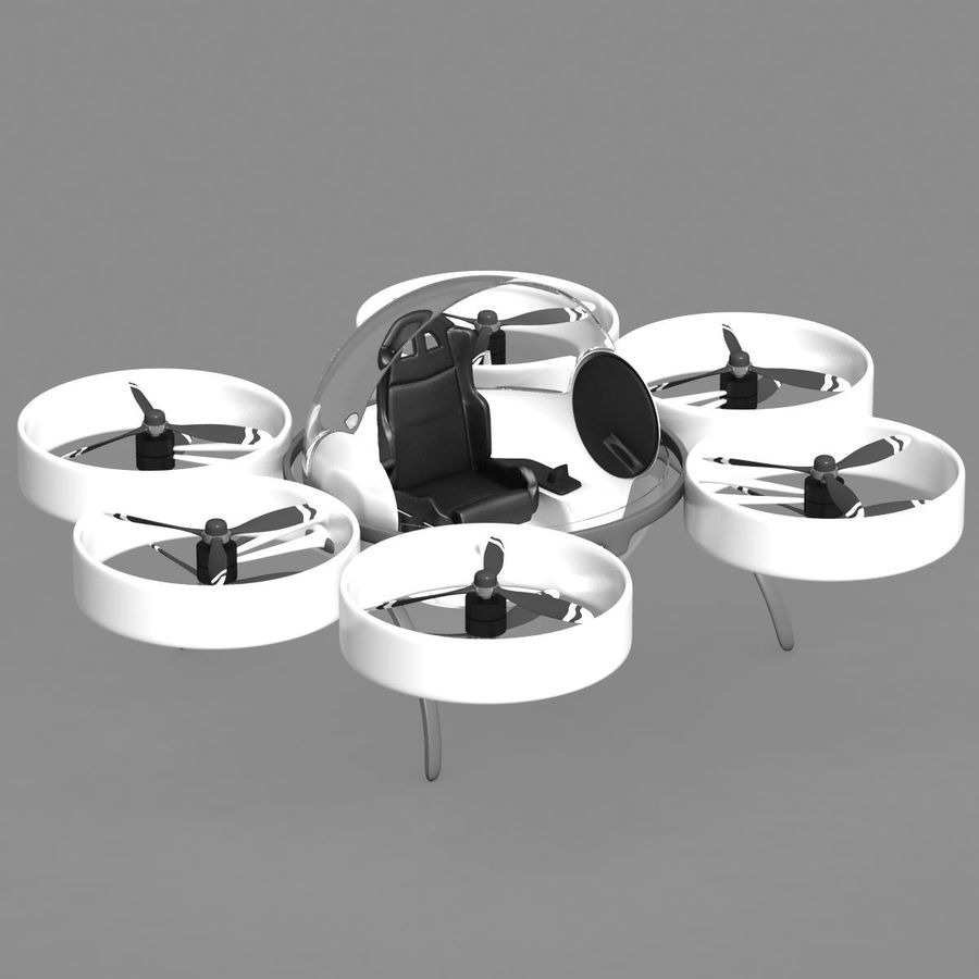 Personal Drone royalty-free 3d model - Preview no. 6
