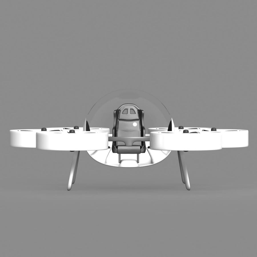 Personal Drone royalty-free 3d model - Preview no. 9
